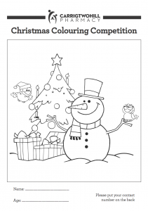 Carrigtwohill Pharmacy Christmas Colouring Competition