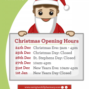 Carrigtwohill Pharmacy, Carrigtwohill, Chemist, Christmas, Community, Opening Hours