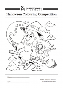 Carrigtwohill Pharmacy Halloween Colouring